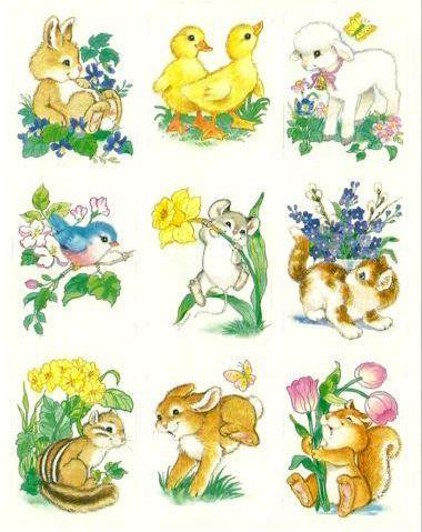 Eureka Sticker Sheet Spring Animals Cute Drawings Animal Clipart Cute Animal Illustration