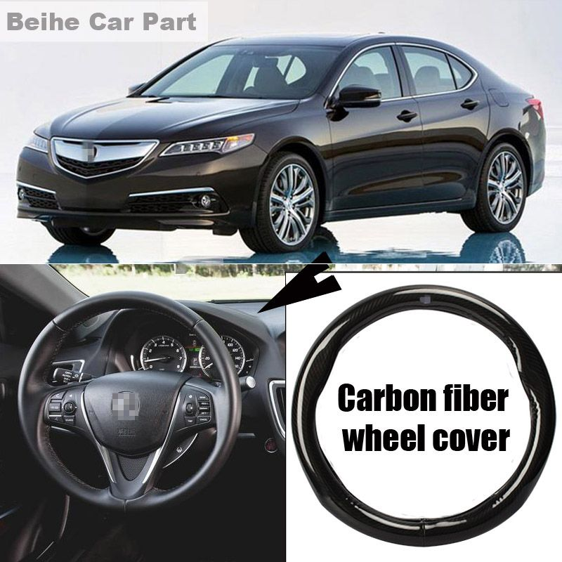 For Acura TLX High Quality Cm Carbon Fiber Leather Steeringwheel - Acura steering wheel cover