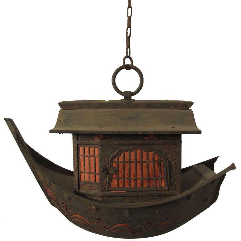 Japanese Boat Lantern 1stdibs Com Candle Lanterns Antique Lanterns Modern Lanterns