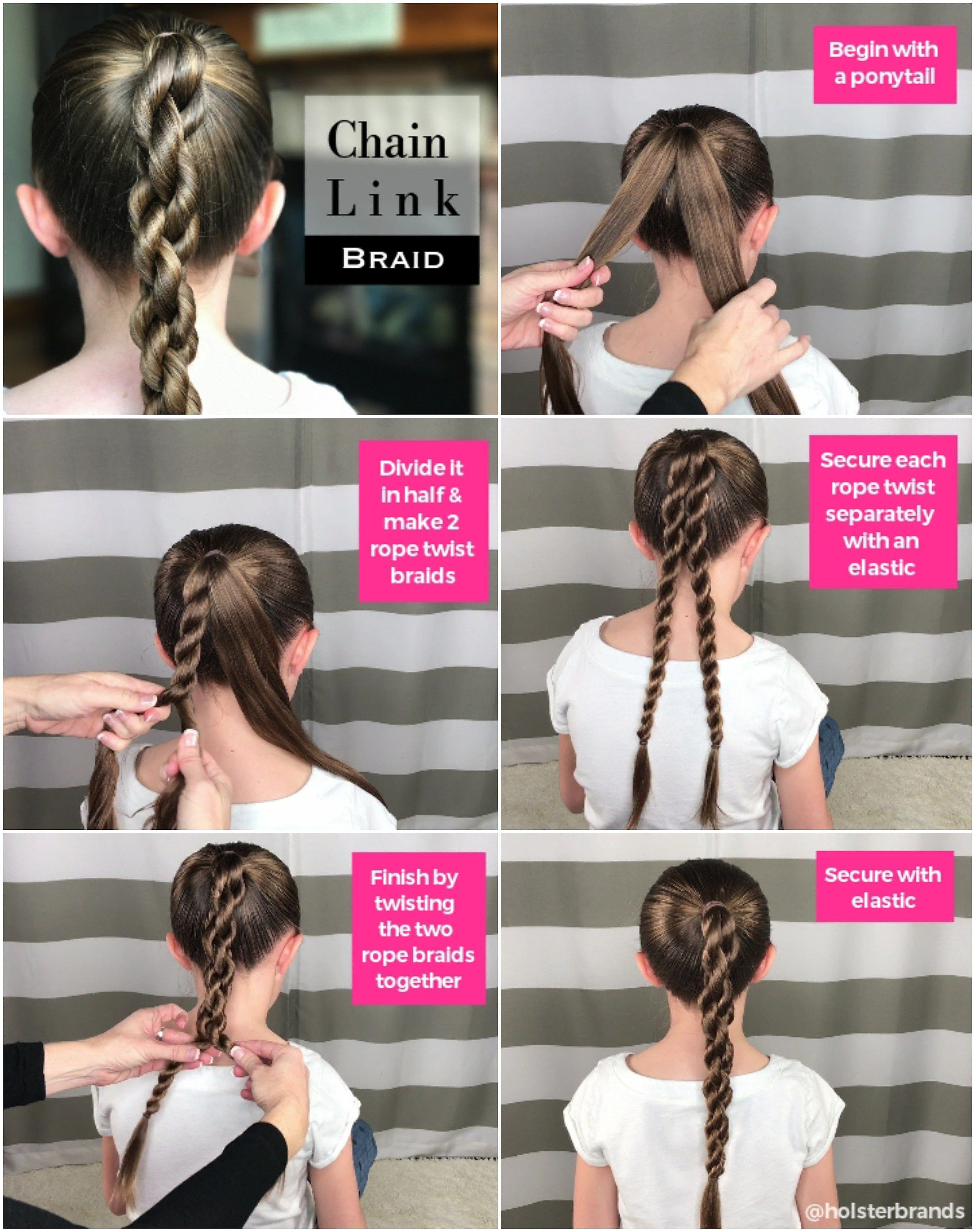 Chain link braid how to quickbraid quickbraidedhairstyle click for