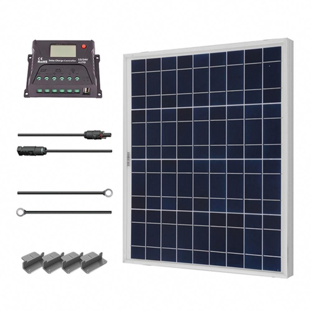 50 Watt 12 Volt Polycrystalline Solar Starter Kit For Off Grid Solar System Advantages Of Solar Energy Solar Panels