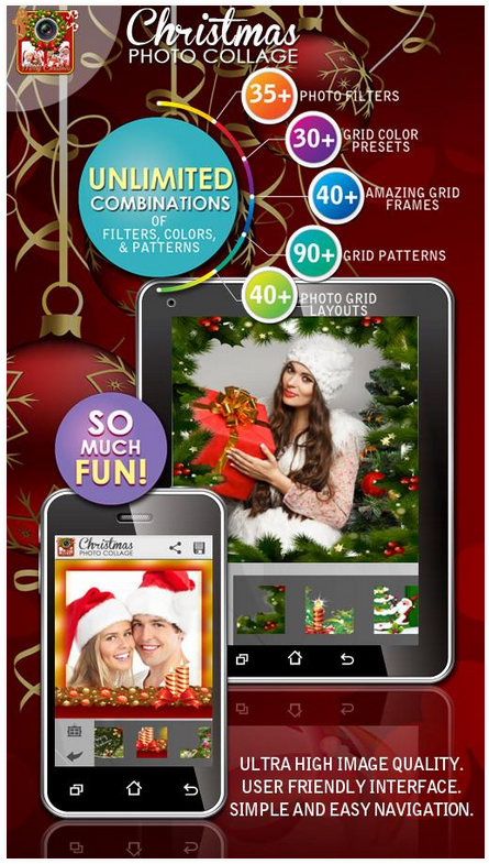 christmas photo collage maker for android app free download images