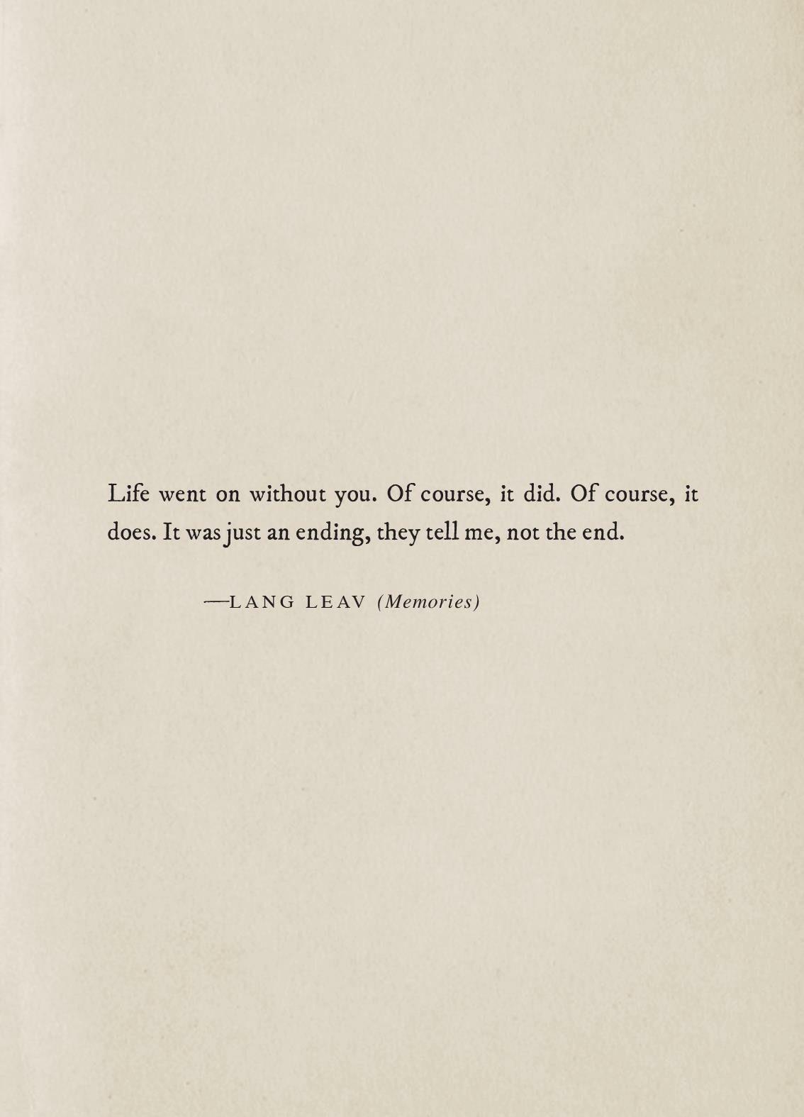 Memories excerptlang leav w o r d s pinterest lang leav