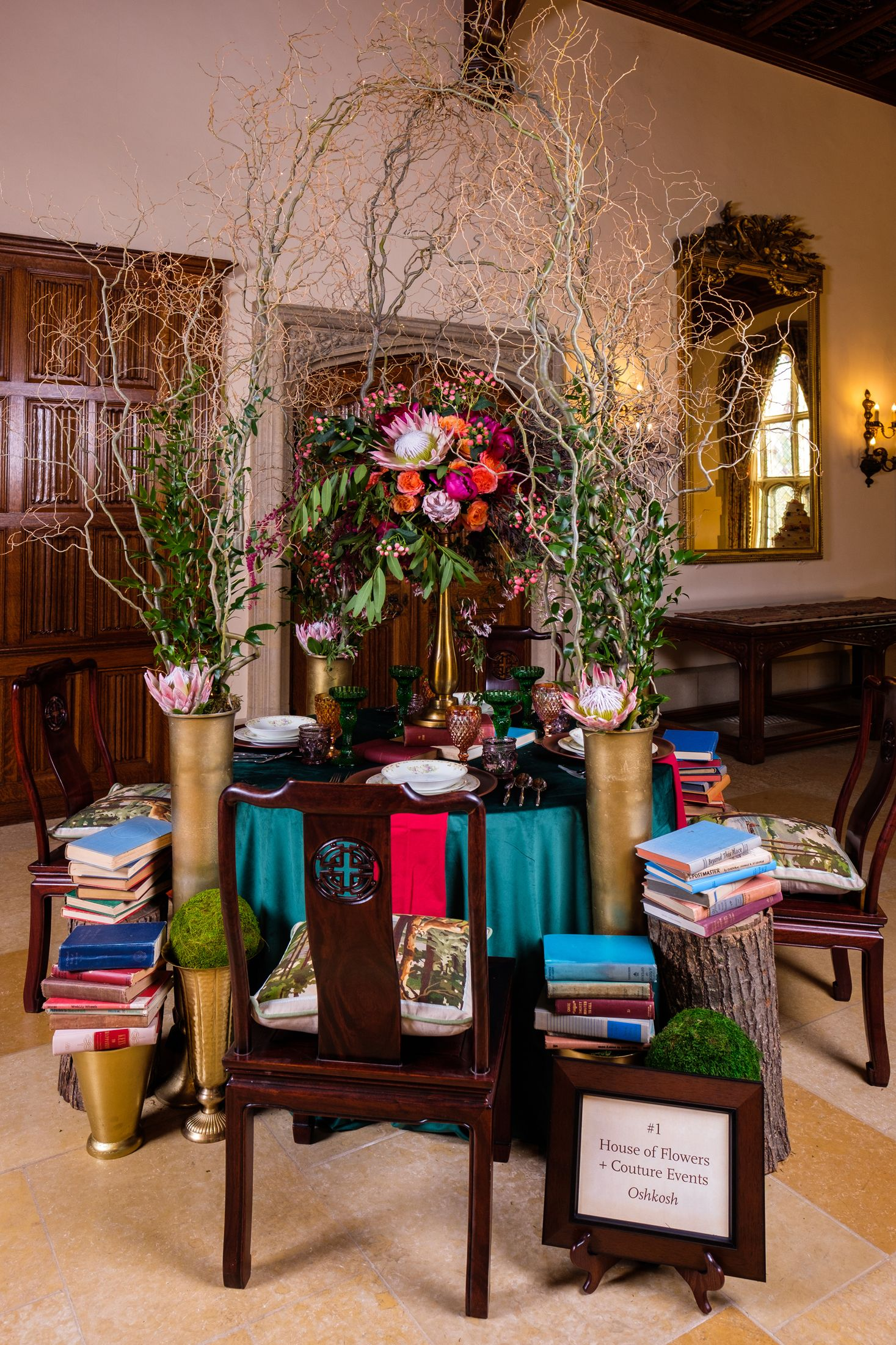 Tablescape By House Of Flowers Couture Events At The 2018 Rooms Of Blooms Floral Show At The Paine Photo By Phil Weston Table Decorations Decor Interior
