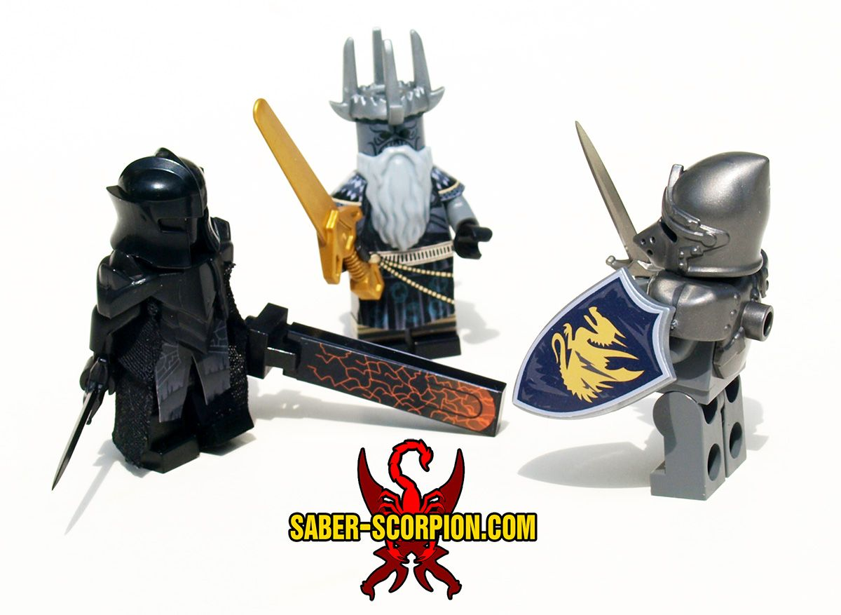 Custom lego minifigs stickers weapons by justin r r stebbins jrrs