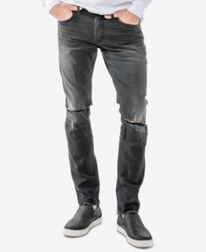 Mens Taavi Skinny Jeans Silver Jeans Co