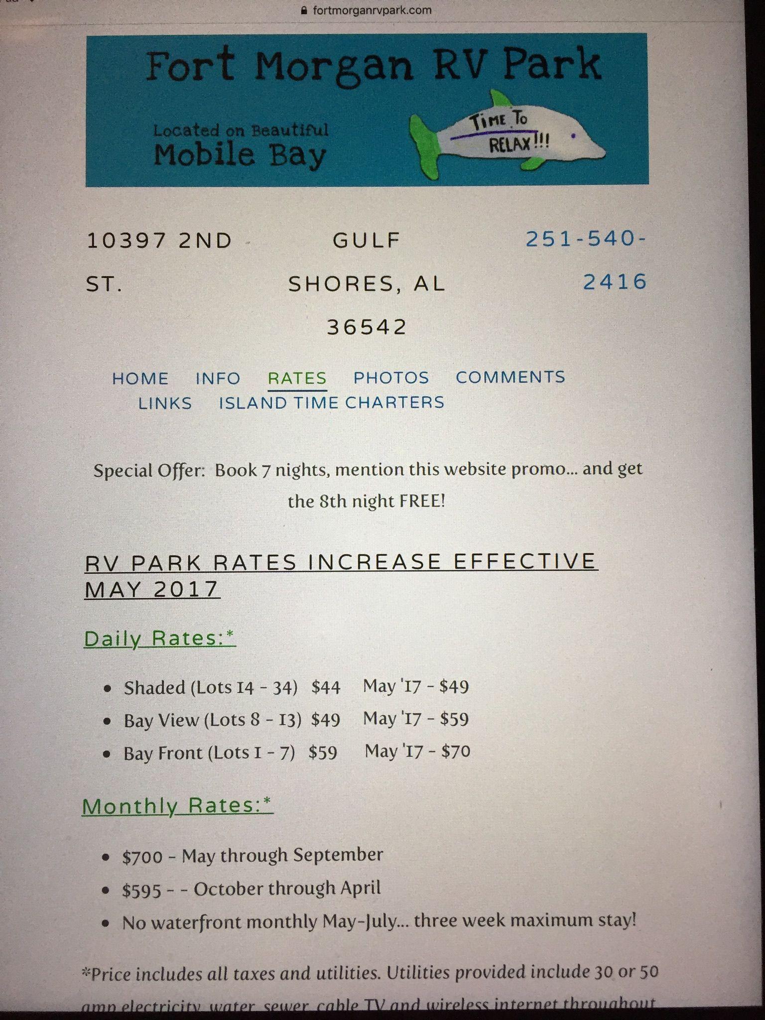 Pin By Belinda Jones On Camping Fort Morgan Island Time Rv Parks