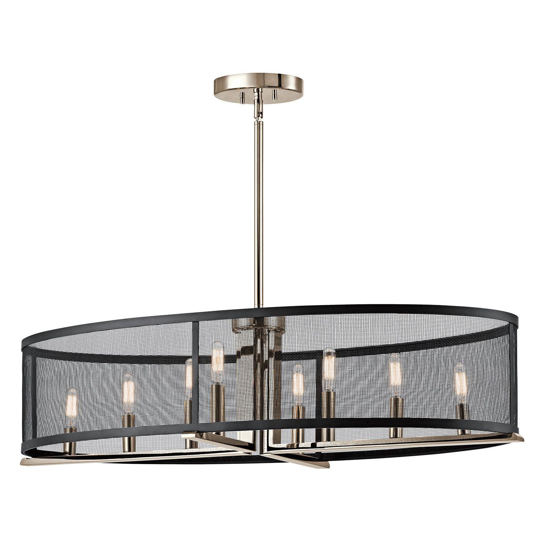 Trent Austin Design Encinitas 8 Light Drum Chandelier