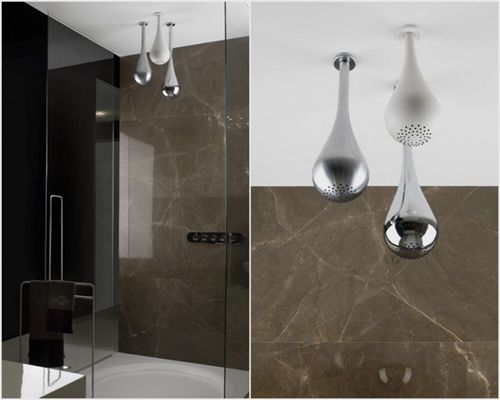 pommes de douche au plafond de la collection goccia gessi disponible chez montr al les. Black Bedroom Furniture Sets. Home Design Ideas