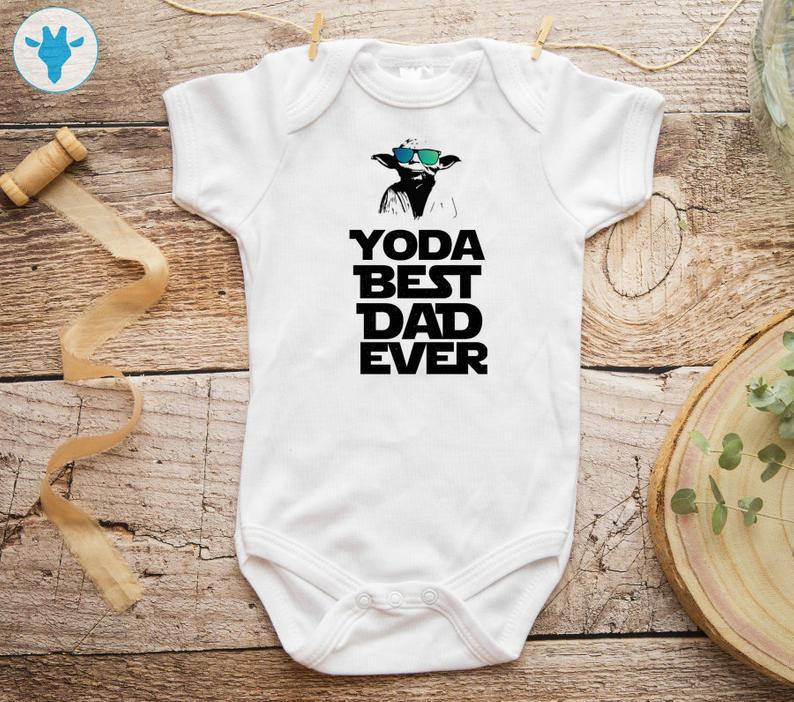 Yoda Best Dad Ever Onesie® - Star Wars Baby Clothes - Yoda ...