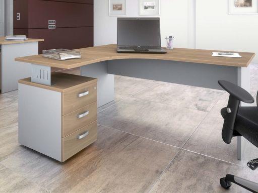 Bureau Compact Daily Avec Caisson Porteur Grand Bureau Bureau Design Bois Mobilier Bureau