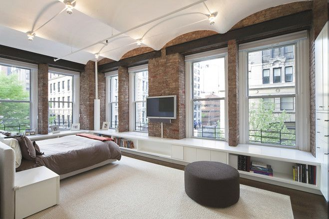 Noho Loft Apartment Modern Decor Exposed Brick Walls Nyc New York Manhattan Ny Apt City Living