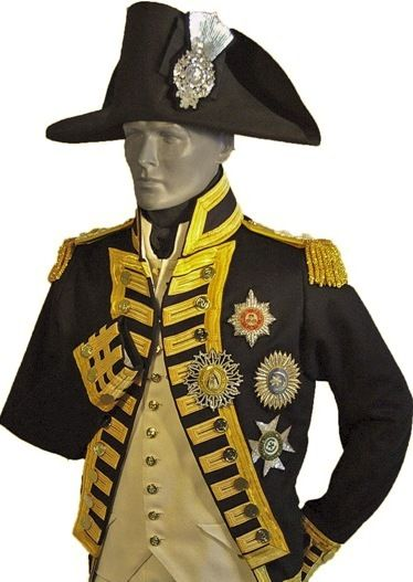 Image result for british naval officer uniform 1800