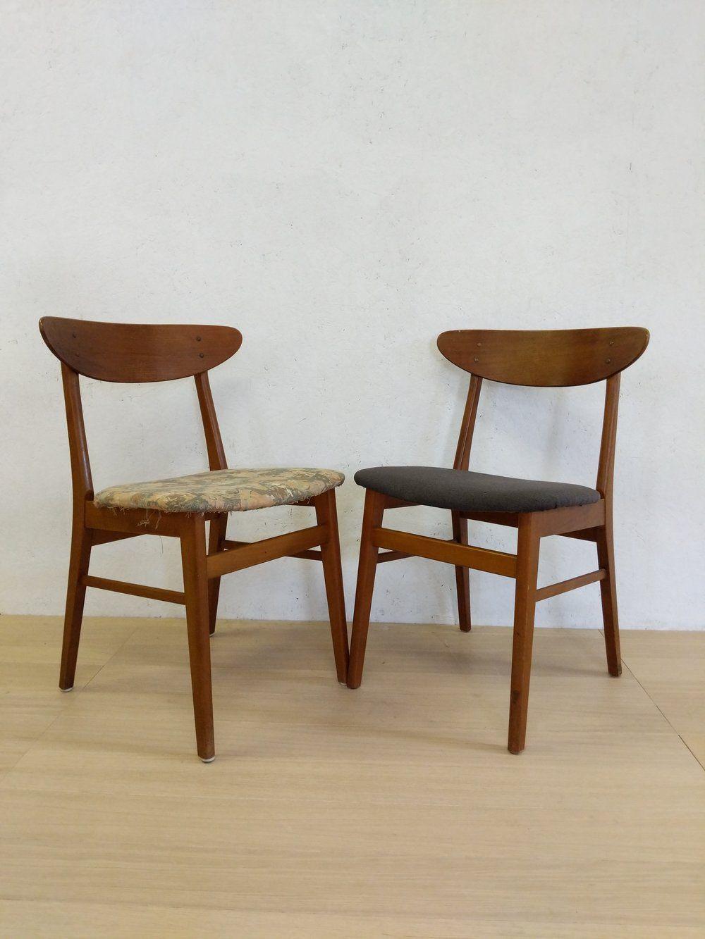 Sensational Pair Of Vintage Danish Modern Farstrup Dining Chairs Round Squirreltailoven Fun Painted Chair Ideas Images Squirreltailovenorg