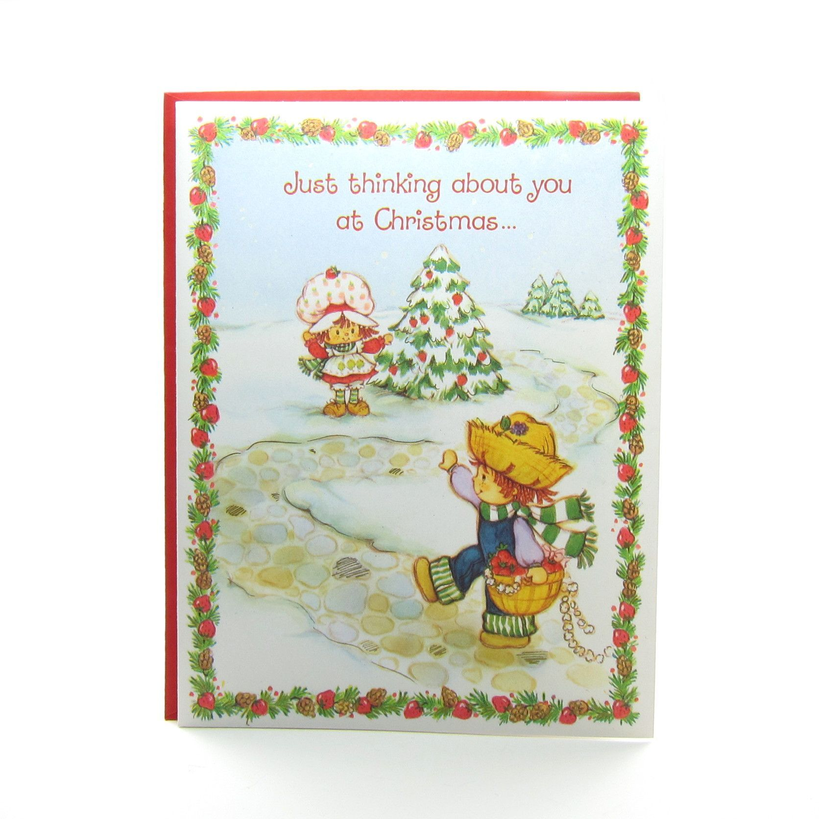 Strawberry Shortcake Christmas Greeting Card with Huckleberry Pie ...