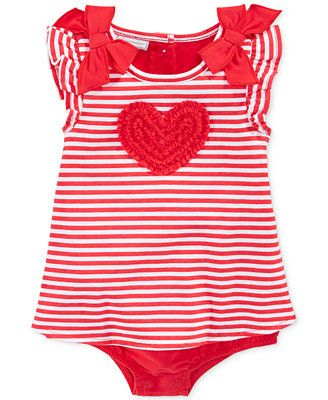 First Impressions Baby Clothes Gorgeous First Impressions Baby Girls' Striped Heart Sunsuit  Nana's Baby 2018