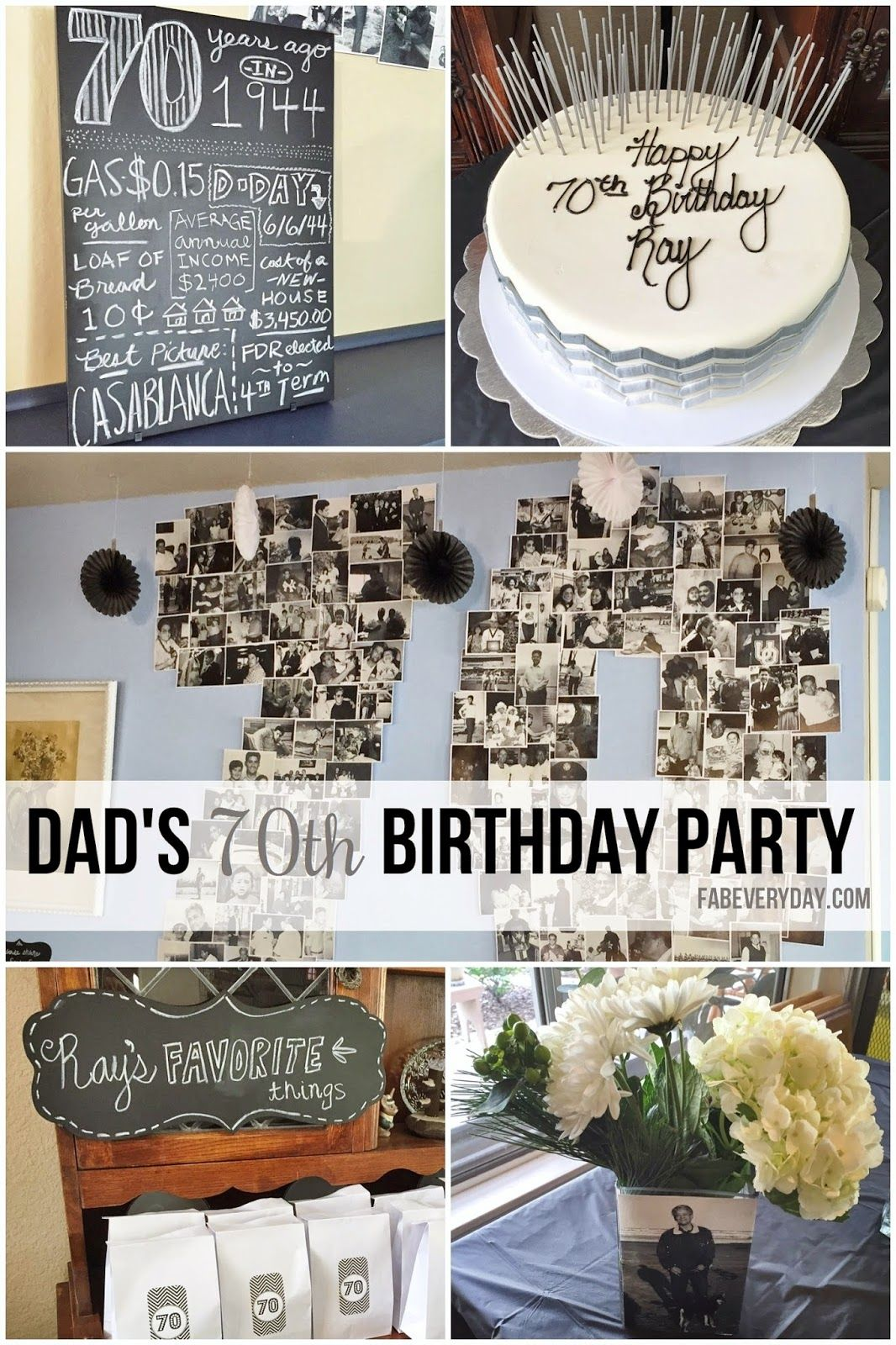 Details from dad 39 s milestone 70th birthday party d cor for Decoration 70th birthday