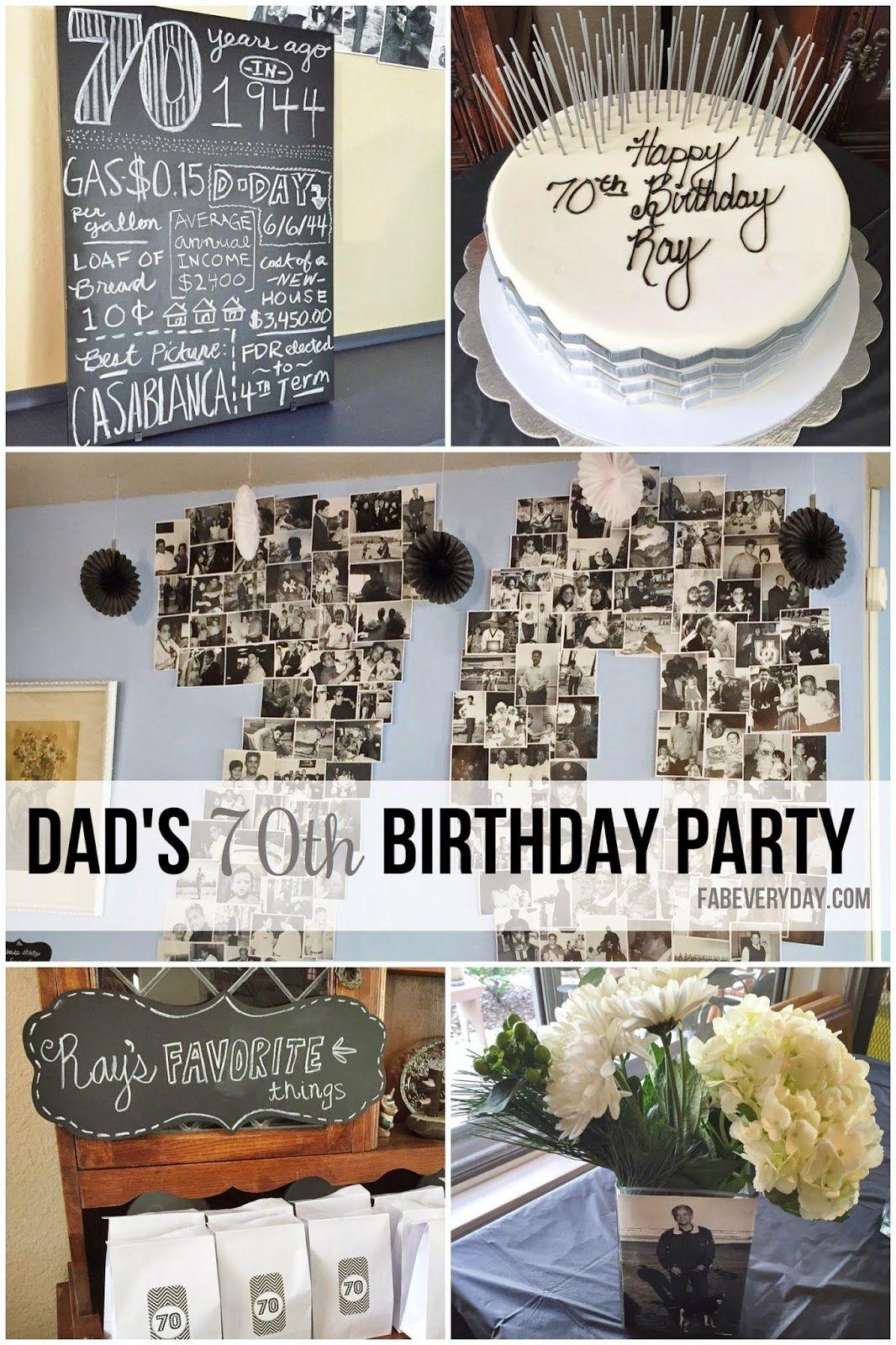 Easy 70th Birthday Party Ideas Planning Dad'