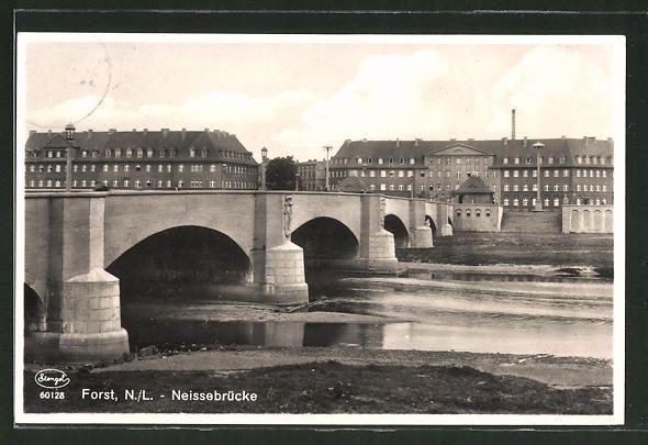 Forst Lausitz, Lange Brücke noch Osten, Forst Berge, Rathenau-Platz