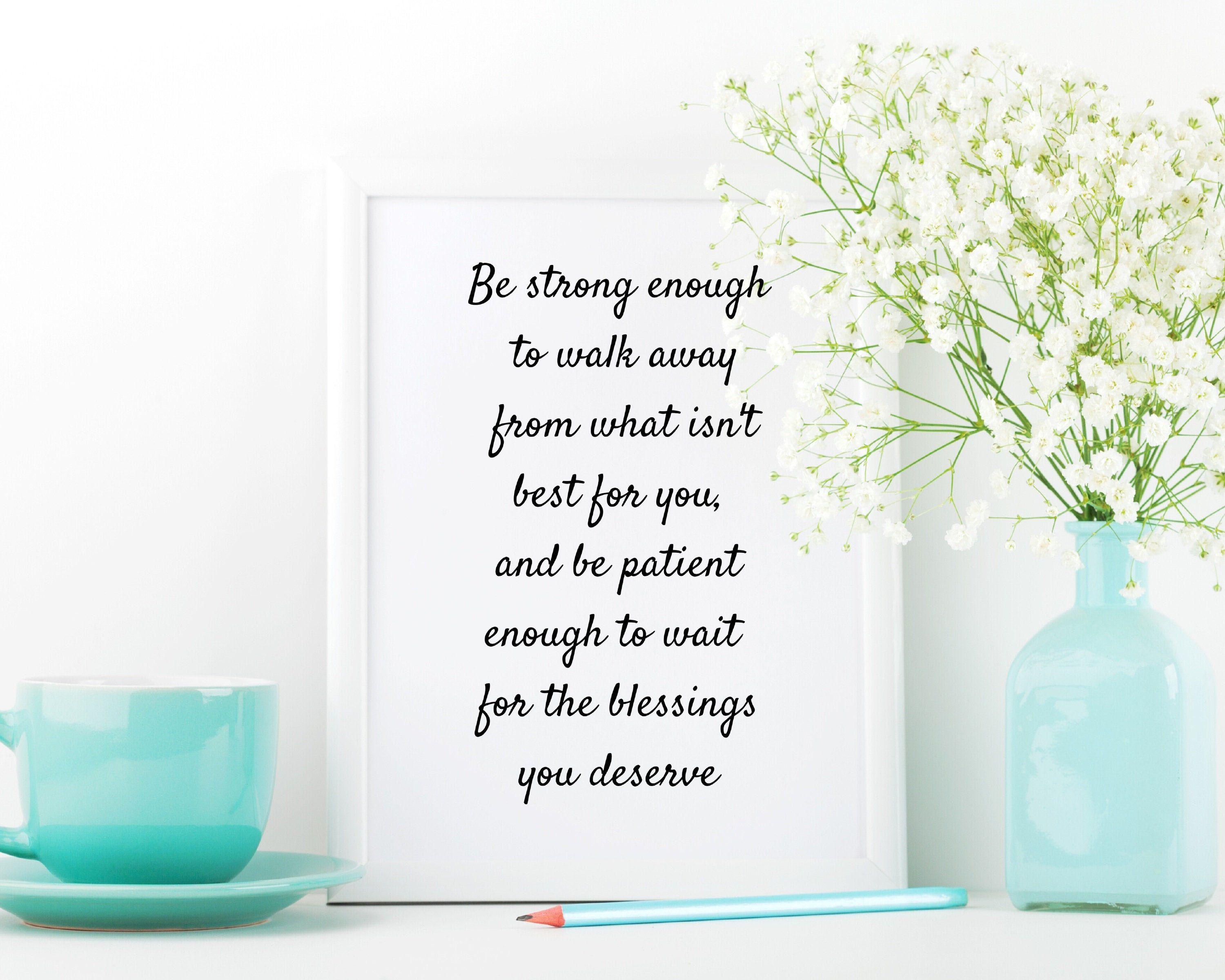 Feminine Quote Wall Print Self Worth Quote Gifts for Her   Etsy