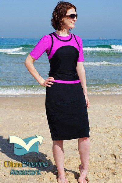 Long swim dresses
