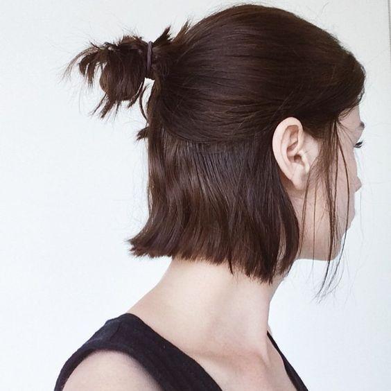 Hair Clip Up Do Half Up Half Down Top Knot Half Bun Short Hair Hair Styles Short Hair Styles Long Hair Styles