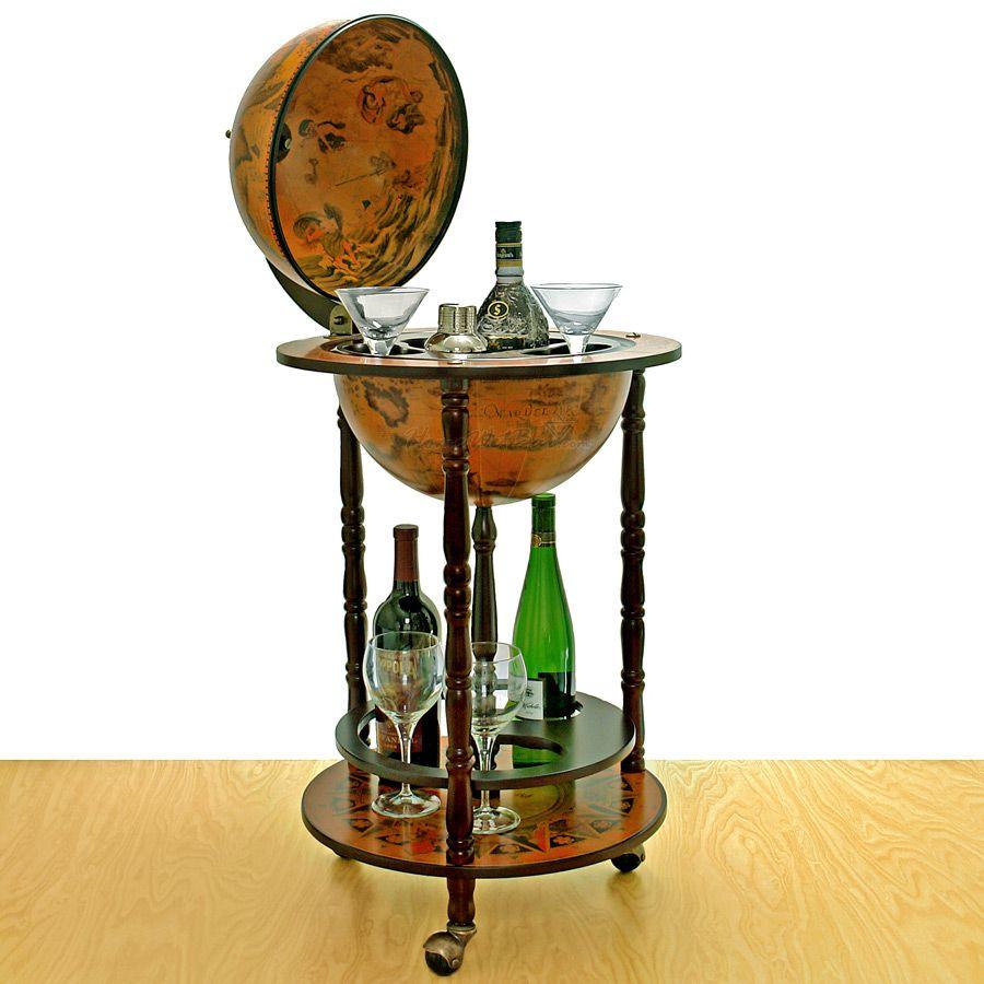 Small 16th Century Italian Replica Globe Bar 17 5 Diameter