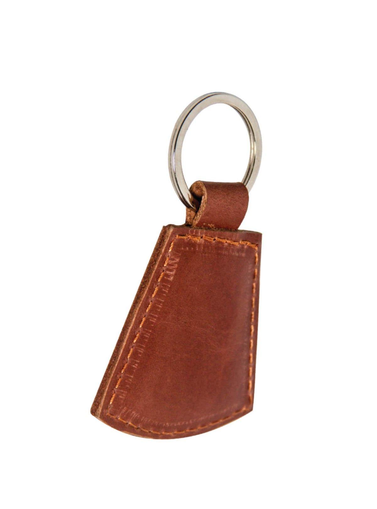 Fire Orange Leather Key Ring For Men  577325f443f5