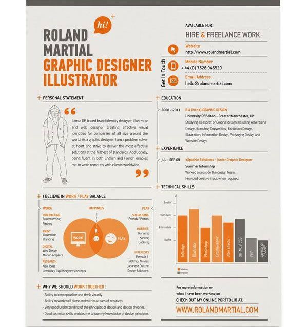 Graphic Design Resume Infographic Resume  Gd Personal Identity  Pinterest