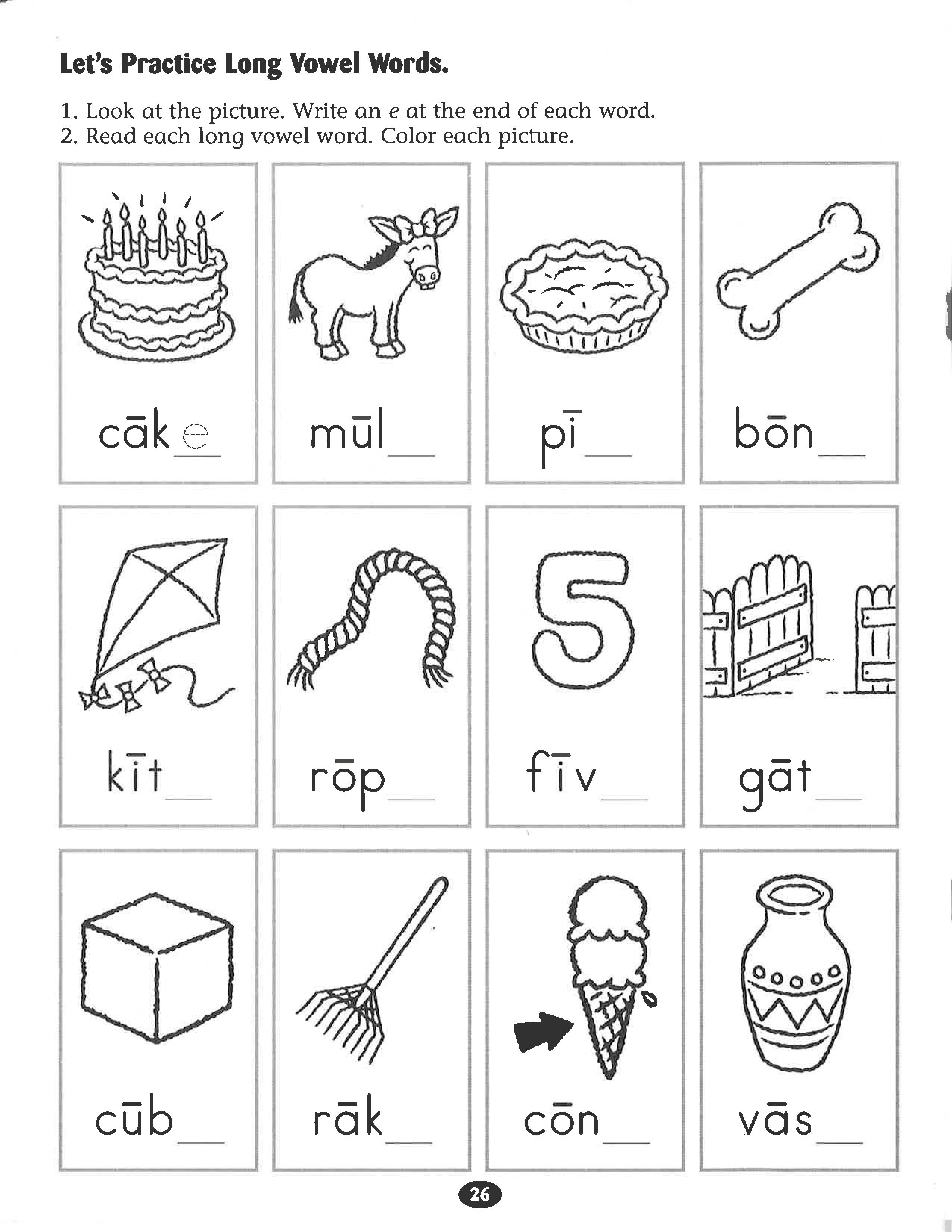 - Let's Practice Long Vowel Words #worksheet. (With Images