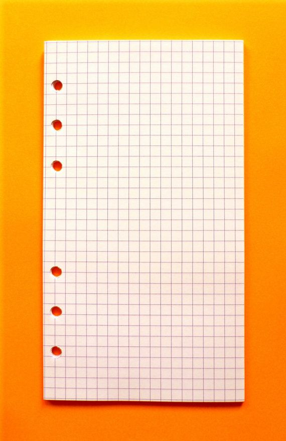 Personal Planner Graph Paper 36 Sheets by KiddyQualia on Etsy, $450