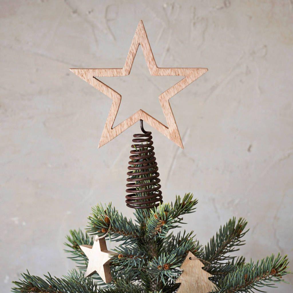 Wooden Star Tree Topper Star Tree Topper Tree Toppers Wood Tree