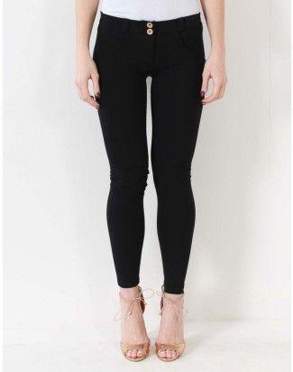 Freddy Black Mid Rise Long Skinny Jeans