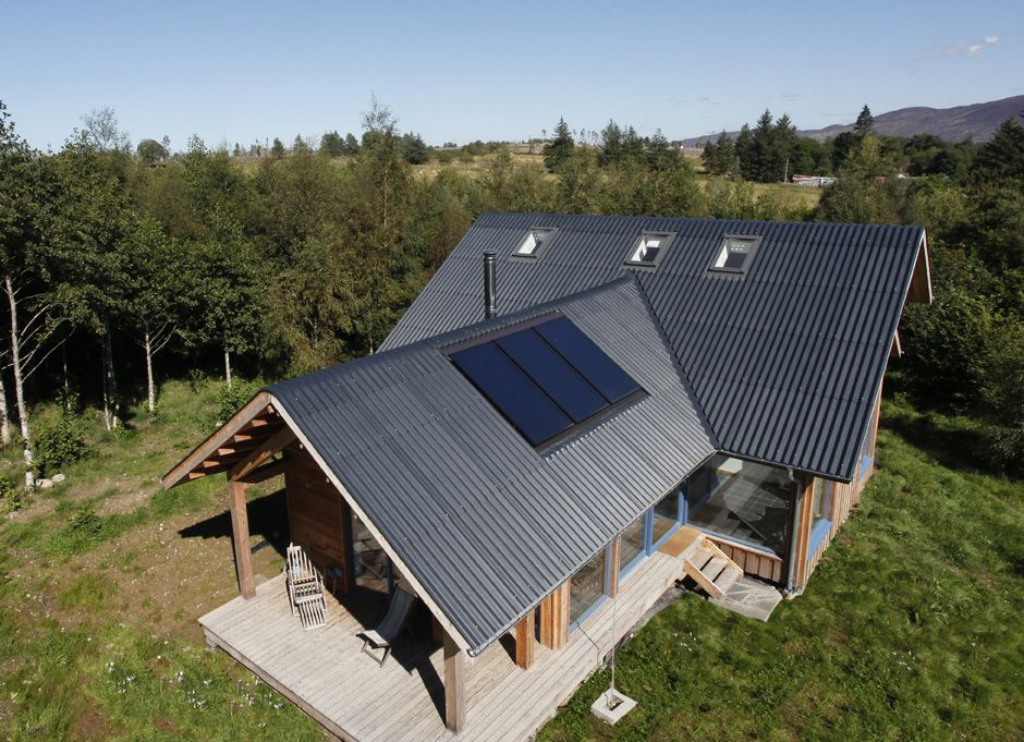 Fibre Cement Profiled Sheeting Roof Design House Roof Design House Cladding