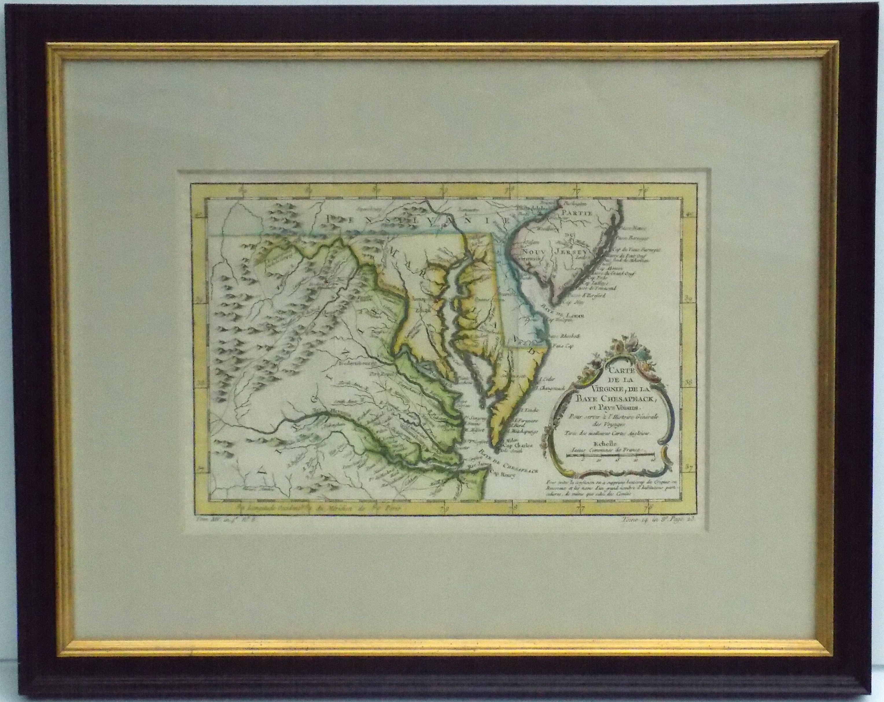 Carte de la Virginia de la Chesapeake