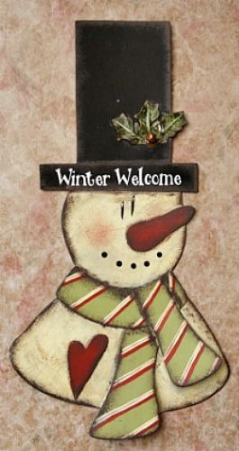 New-Country-Primitive-WINTER-WELCOME-Snowman-Heart-Top-Hat-Wall-Plaque-Sign