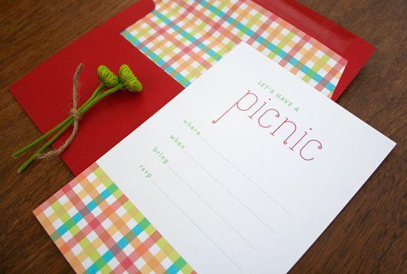 Picknick - Free Printable Picnic Invitations Uitnodiging voor de