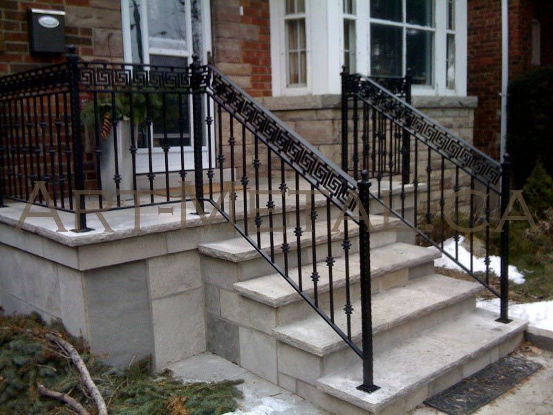 Those railings are better than wood any day exterior - Exterior wrought iron handrails for steps ...