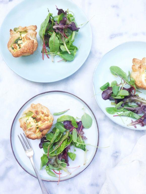 Spinazie hapjes in bladerdeeg - vegetarisch recept