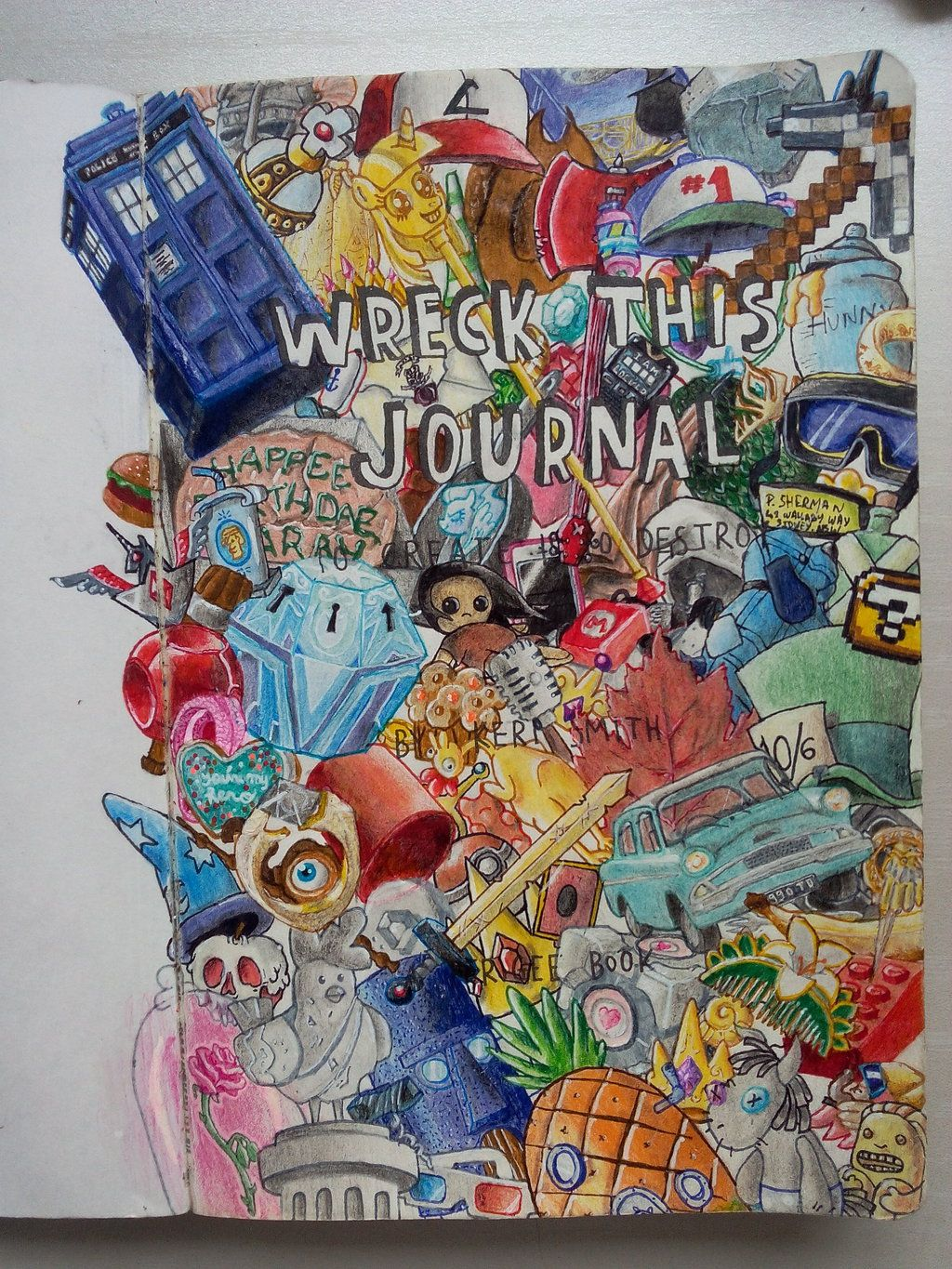 Wreck This Journal Title Page By Poulped Deviantart Com On