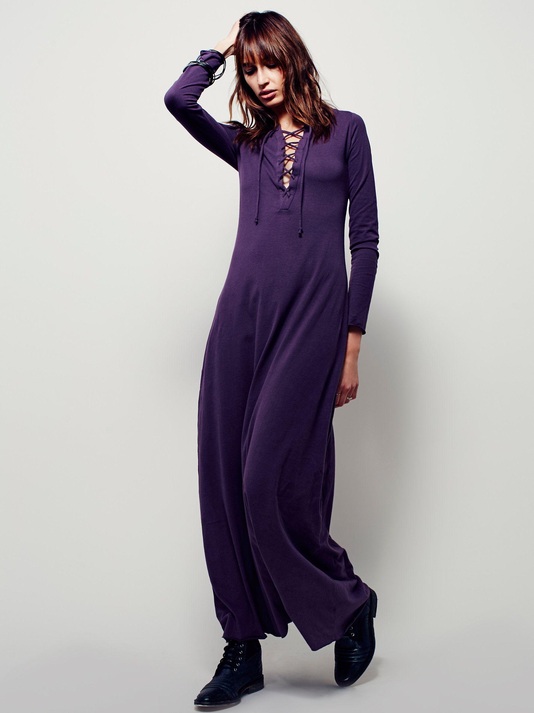 Psychomagic dress super soft long sleeve cotton maxi dress with