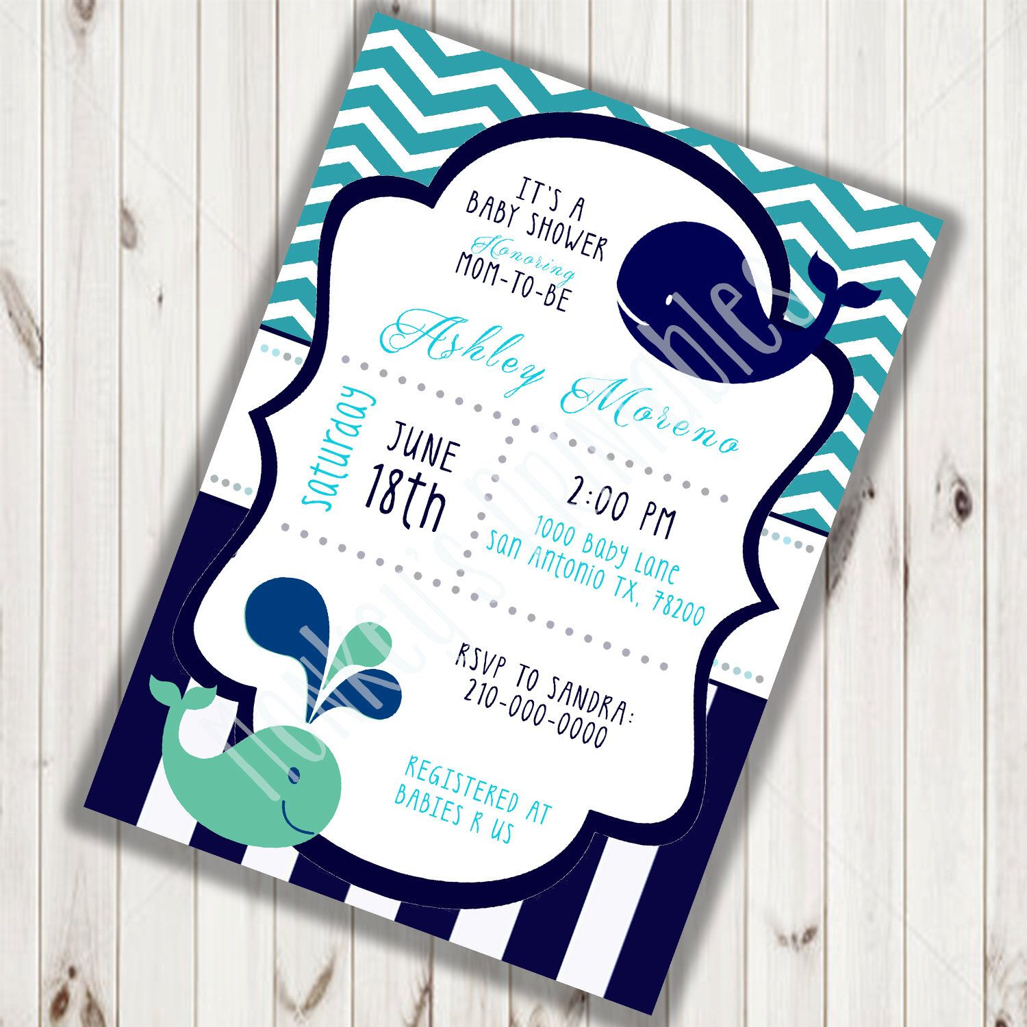 Ahoy It\'s A Boy, Nautical Invitation, Nautical Baby Shower ...