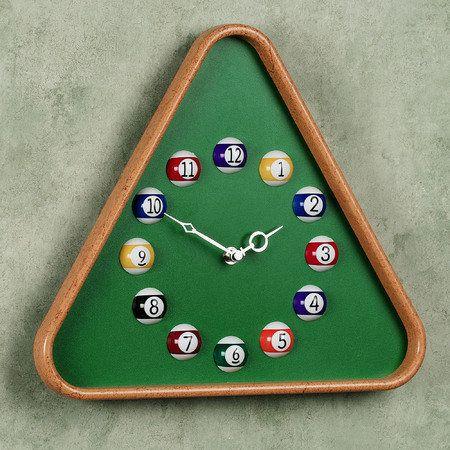 Billiards Wall Clock Diy Clock Wall Clock Decor Unique Wall Clocks