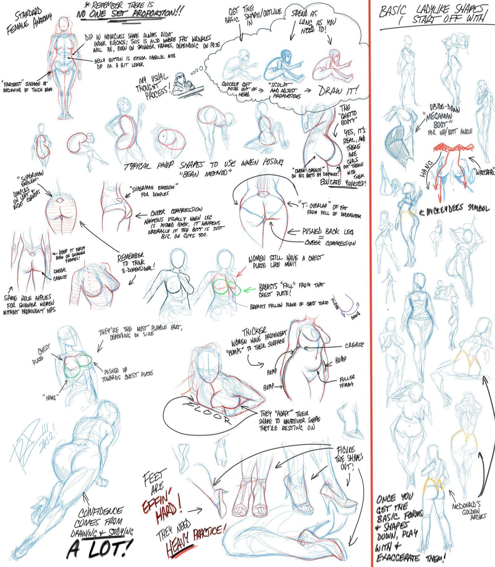 Tuto-Sketch: Referencias cuerpo mujer | Referencias | Pinterest ...
