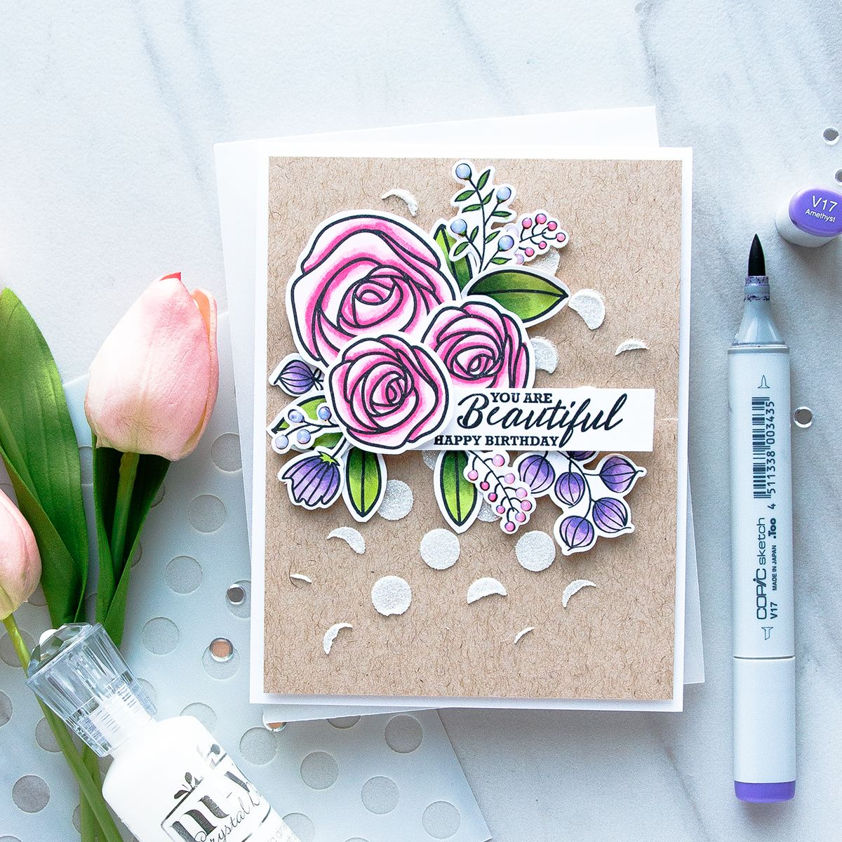 Simon says stamp floral birthday card with sketch ranunculus simon says stamp floral birthday card with sketch ranunculus project by yana smakula bookmarktalkfo Choice Image