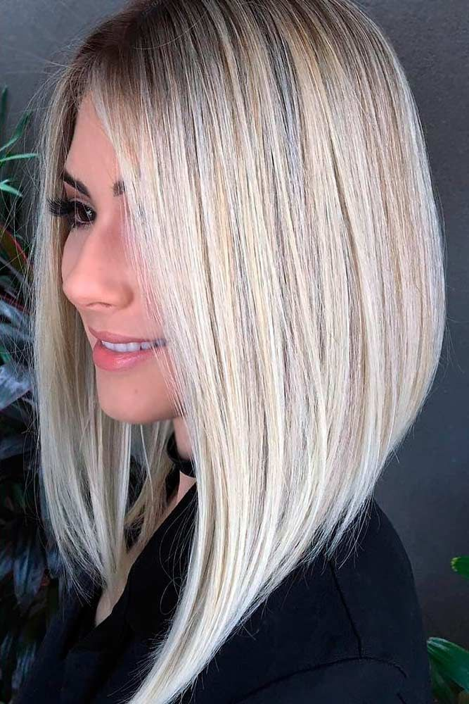 55 Flirty Blonde Hair Colors To Try In 2020 Angled Bob