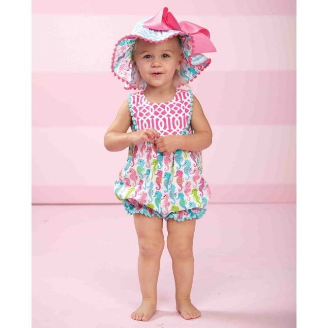 Seahorse Romper By Mud Pie Huge Kids Clearance Sale Up To 90