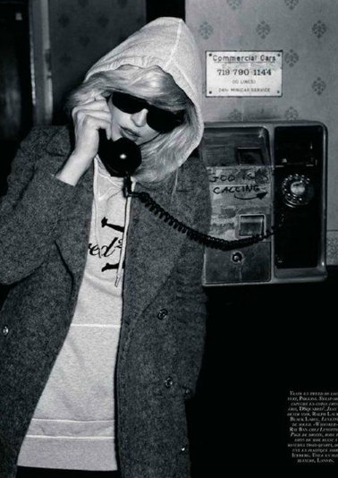 Debbie harry hoodie blondie black and white photography 80s