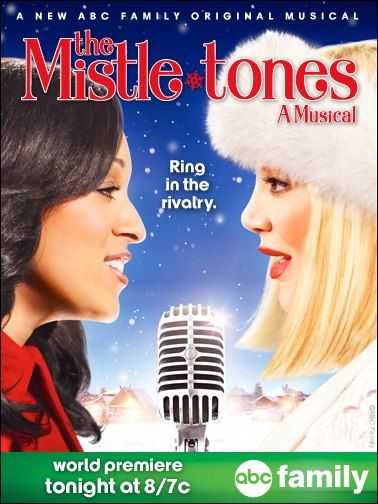 watch tia mowry and tori spelling in the new abc family original musical the mistle tones tonight at 87c - Christmas Shows Tonight