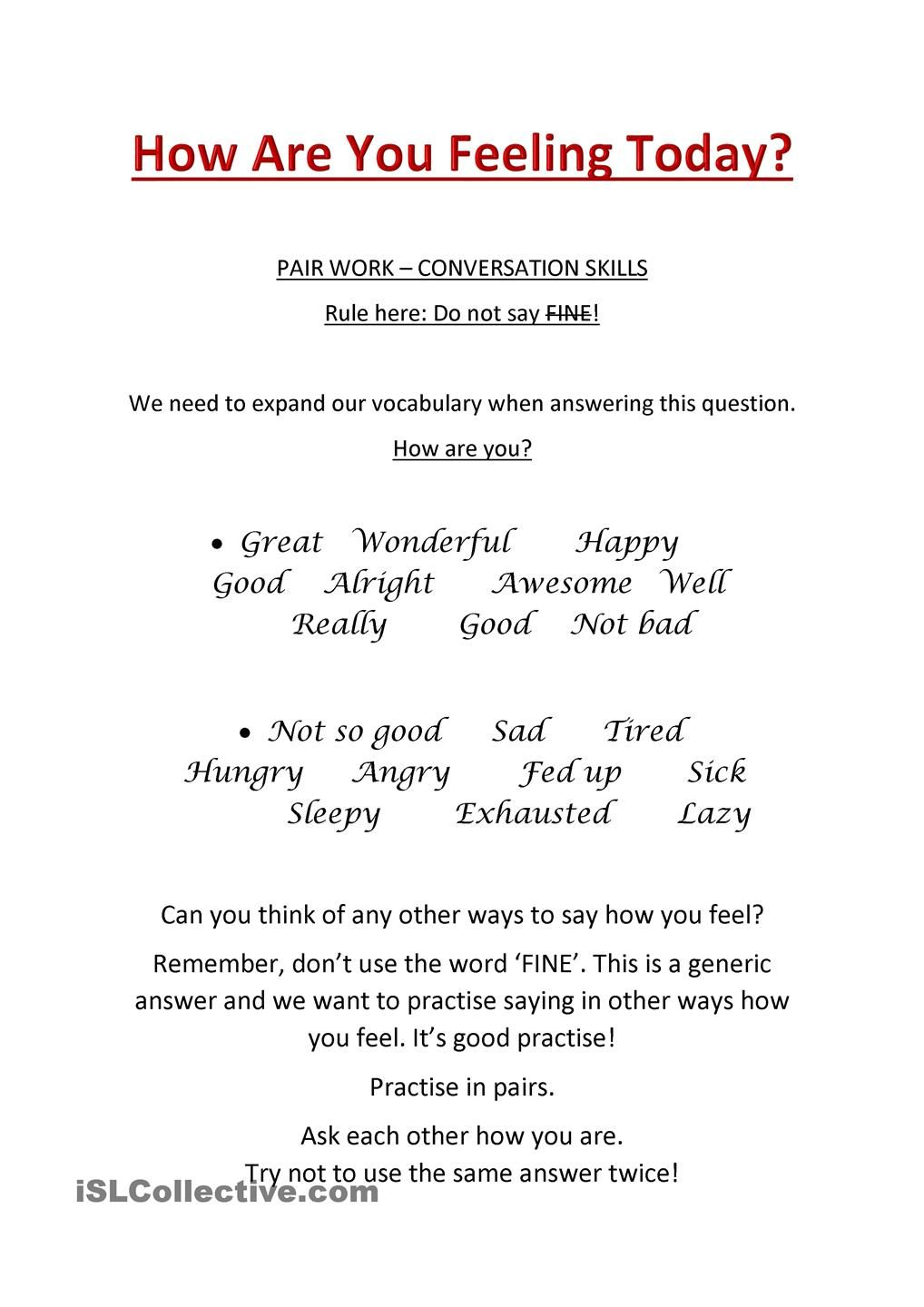 worksheet Aphasia Worksheets adjectives how are you language pinterest english learning worksheet free esl printable worksheets made by teachers